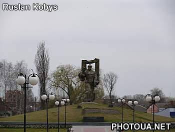 Kovel. Volyn region. Monument to Taras Shevchenko.