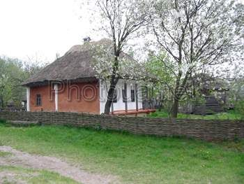 Kyiv. Pyrogovo. Museum of National architecture and life. Ukrainian hut