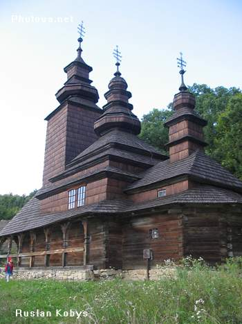 Kyiv. Pyrogovo. Museum of National architecture and life. Wooden church. 1792.