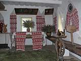 Pereyaslav-Khmelnitsky. museum of Folk Life and Architecture. Interior of House of potter. 19 cent.