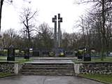 Kovel. Volyn region. Monument to the victims of  Second world war.