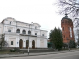 Zhitomir Building of regional philharmonic society and Old Water tower.