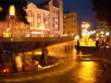 Ivano-Frankivsk Fountain at night